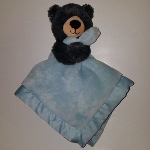 Carter's Blue Lovey Black Bear Plush Animal Baby